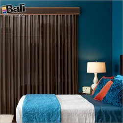 Bali Vertical Blind Alternatives - Natural Woven Wood Drapes. Whites and off-whi - Natural Woven Wood Drapes - Buy with Confidence, Get Free Samples Today!Choose Natural Woven Wood Drapes to bring the natural beauty of bamboo, jute, grasses and woven wood to wide windows, patio doors and closet doors. They are available in a wide range of Natural Shade materials, so it's easy to create a coordinated  decor with rich textures that are a perfect match.  Choose standard fullness for a drape that features a gentle wave of natural material when closed, or choose 60% fullness for a drape that maintains the look of drapery when closed.
