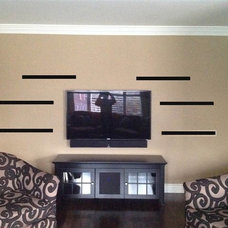 The horizontal lines represent drawn in floating shelves via Photoshop. Anyone a