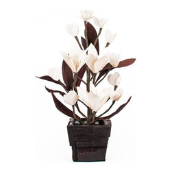 The Firefly Garden - Florence - Influenced by one of the most beautiful cities in Tuscany, Florence is a beautiful and classic arrangement made of sola wood lighted Lily flowers. Its soft white hues bring a simple yet elegant design into any setting.