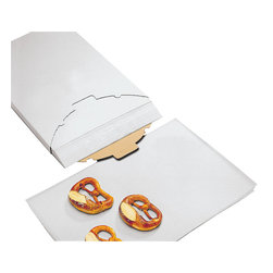 Paderno World Cuisine - 15 3/4 in. by 23 1/2 in. Sheets of Silicone Coated Parchment Paper, Pack of 5 - These 15 3/4 wide by 23 1/2 long sheets of silicone coated parchment paper (pack of 500) are coated on both sides. They withstand temperatures up to 600 degrees F. and are reusable multiple times on each side. Its controlled flatness, along with its flexibility and non-stick properties surpasses conventional parchment paper.