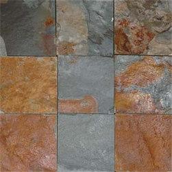 Kitchen floors - 12 x 12 Rustic Slate Floor tile.