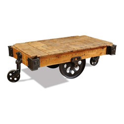 Design Samples - #Factory Cart #Coffee #table on iron #casters