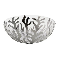 Alessi - Mediterraneo Fruit Basket with Bowl by Alessi - The Alessi Mediterraneo Fruit Basket with Bowl brings the oceanic appeal of the Mediterranean to life. Now available with a bowl insert, the Mediterraneo Fruit Basket can also hold salad, punch, or even floating candles. A distinctive look by LPWK and Emma Silvestris. Alessi, known as the Italian design factory, has manufactured household products since 1921. The stylish and fun items offered are the result of contemporary partnerships with some of the world's best designers of unique and modern home accessories.