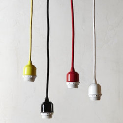 Pendant Cord Set - Bring ultra-modern industrial style to any space. Available in bright colors, you can customize these cords with different bulbs or add west elm's Pendant Shade for a fresh new look.