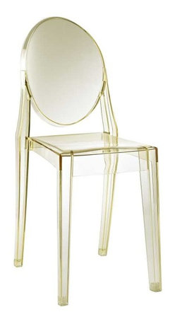 Modway - Casper Dining Side Chair in Yellow - Combine artistic endeavors into a unified vision of harmony and grace with the ethereal Casper Chair. Allow bursts of creative energy to reach every aspect of your contemporary living space as this masterpiece reinvents your surroundings. Surprisingly sturdy and durable, the Casper Chair is appropriate for any room or outdoor setting. Pure perception awaits, as shining moments of brilliance turn visual vacuums into new realms of transcendence.
