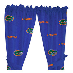 College Covers - NCAA Florida Gators Collegiate Long Window Curtains - Features: