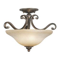 Vaxcel Lighting - Vaxcel Lighting CF35417 Monrovia 3 Light Semi-Flush Ceiling Fixture - Features: