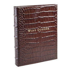 Wine Dossier Crocodile, Crocodile Embossed Leather - For the connoisseur, a diary to remember their favorite wines.