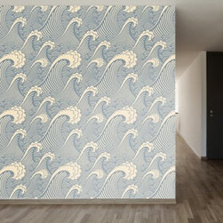 WallsNeedLove Waves of Chic Self-Adhesive Wallpaper - Inspired by vintage Japanese wave drawings, this WallsNeedLove Waves of Chic Self-Adhesive Wallpaper adds that certain something to your decor. Stunning in blue and white, this self-adhesive wallpaper is a joy to use: simply peel and stick, and then remove or reposition as you wish. About Walls Need LovePeel. Stick. Repeat. Walls Need Love started in 2009. They are a small company filled with people-loving sticker fiends. Walls Need Love wants to make your house the stylish dream home you've always wanted and do it with easy-to-use vinyl wall decals. Walls Need Love has been featured in Better Homes and Gardens, Good Housekeeping, USA Today, Fab, and Apartment Therapy.