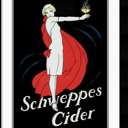 Amanti Art - Schweppes Cider Framed Print - Bring nostalgic charm to any room with this playful vintage poster.