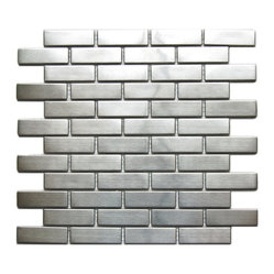 Large Brick Pattern Mosaic Stainless Steel Tile