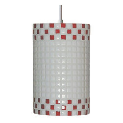 A19 Lighting - Checkers Pendant - Fun And Funky, The Checkers Pendant Will Transport You Back To 1920S And 1930S, With Its High Gloss And Appealing Checker-Board Pattern.Height:9.5Width:6Depth:Mounting Center:Bulb Type:100 Watt Medium Base A19 E26 BaseNumber Of Bulbs:1American-Made Fused Glass And Ceramic Wall Sconce.Resistant To Rust And Corrosion.Includes 6' Of Cord And A Matching Canopy.Due To The Handmade Nature Of A19 Products, It Is Not Unreasonable To Expect Slight Differences From Item To Item.
