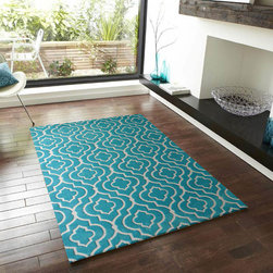 ~5' x 7' ft. Contemporary Hand-tufted Light Blue Area Rug - This Rug Measures Approximate Size(Width X Length):~5 X 7' ft. (152 cm x 214 cm) / No Assembly Required