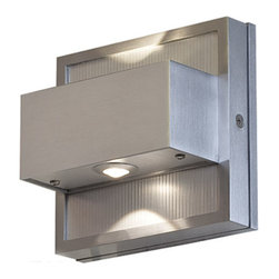 Access - ZyZx Outdoor Wall Washer - ZyZx Outdoor Wall Washer features a Bronze or Satin finish. Two 3.5 watt, 120 volt 280 Lumens 3000K LED type bulbs are included. ADA compliant. ETL listed for wet locations. 5.25 inch width x 5.25 inch height x 2.5 inch depth.  This item is not Marine Grade.