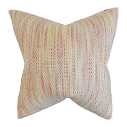 "The Pillow Collection - Lakota Stripes Pillow, Blossom 20"" x 20"" - Bring a pop of color to your living space with this chic accent pillow."