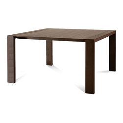 Domitalia - Fashion-Q Square Dining Table, Wenge - -Square Table