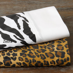None - Regal Animal 300 All Cotton Sheet Set - This sheet set features a regal animal print and soft,300 thread count cotton sateen. Accent your bedroom with this comfortable and stylish sheet set.