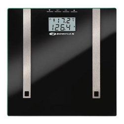Taylor - Bowflex Body Fat Scale Glass - Bowflex by Taylor Glass Body Fat Scale uses BIA to estimate body fat and body water percentages to 0.1%.