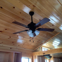 Tongue & Groove Ceiling in Park Model Cabin -