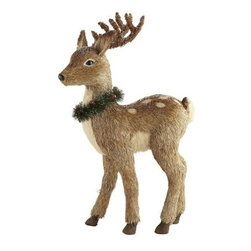 Natural Standing Reindeer - This deer has the sweetest face. I think it would look great standing under the Christmas tree surrounded by wrapped gifts.