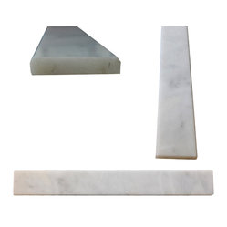 "White Carrara Marble Both Sides Polished Saddle Threshold 4""x36"" - White Carrara Marble Both Sides Polished Saddle Threshold 4""x36"""