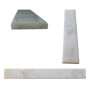 "White Carrara Marble Both Sides Polished Saddle Threshold 4""x36"" - White Carrara Marble Both Sides Polished Saddle Threshold 4""x36"""
