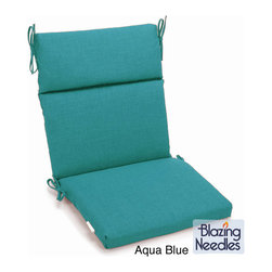 Blazing Needles - Blazing Needles 45 x 22-inch Outdoor Spun Poly Three-section Back / Seat Chair C - This Three-Section Chair Cushion adds a touch of comfort to outdoor furnishings. The cushions are composed of comfortable 100-percent spun polyester fabric and are available in a variety of colors.