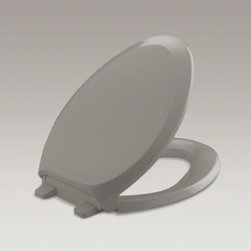 KOHLER - KOHLER Grip-Tight French Curve(R) Q3 elongated toilet seat - The universal design of this French Curve seat coordinates elegantly with most elongated toilets. This Q3 Advantage seat features innovative technology that prevents the lid from slamming and simplifies both cleaning and installation. Grip-Tight bumpers h