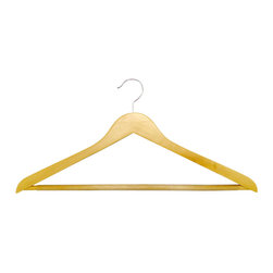 Proman Products - Proman Products Genesis Flat Big and Tall Hangers with Anti Slip PVC Tube Bar - Genesis flat big and tall hangers with anti slip PVC tube bar. Natural color with chrome hardware.50Pcs/Case