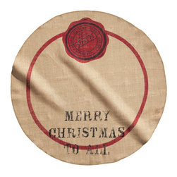 Christmas Tree Mat, Linen Beige - We love this tree skirt. The burlap adds a great texture, and it's even affordable.
