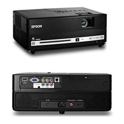 "Epson America - Moviemate 85HD DVD Projector - Movie Mate 85HD Projector DVD and Music Player Combo. Experience the ultimate versatility in widescreen high-def home entertainment with Epson Movie Mate 85HD a powerful projector DVD and music player combo that brings you brilliant blockbuster performances. Just plug load and play. Get brilliant larger-than-life entertainment with 2500 lumens color light output and 2500 lumens white light output plus 720p widescreen performance. A sleek portable performer Epson Movie Mate 85HD includes a built-in DVD/CD player and dual Dolby 5.1 Digital DTS 10 W stereo speakers. Add to that its convenient HDMI connectivity and you've got everything you need for amazing HD adventures. Epson Movie Mate 85HD works with any blank wall or screen and projects DVD movies up to 12 times larger than they would appear on a 40"" widescreen TV. This item cannot be shipped to APO/FPO addresses. Please accept our apologies."