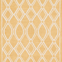 """Loloi Rugs - Loloi Rugs Stephanie Collection - Gold / Ivory, 2'-3"""" x 7'-6"""" - An instant upgrade for rooms ranging from modern to sophisticated, the bold and tonal Stephanie Collection is hooked in India of 100% wool. Each design is featured on a high-low pile for a sense of dimension and textural interest. Available in 6 sizes including a scatter and runner."""