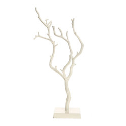 Little Birch Jewelry Stand, White