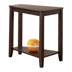 Steve Silver - Joel Chairside End Table Cherry - Although small, its unique pyramid angle will make this the most versatile end table in your living room. Make room for the Joel chairside end table in your house. This unique table is available in a cherry or oak finish.