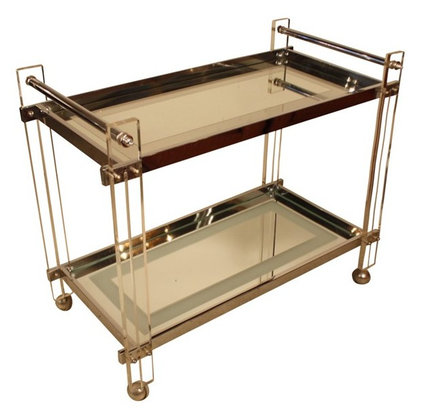 Chrome, Lucite, and Mirror Bar Cart