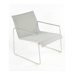 Control Brand - Silver Dynamic Lounge Chair - Durability meets comfort in this versatile chair lounge that features an aluminum construction and solid hue for mix-and-match decorating.   29.5'' W x 29.5'' H x 27.13'' D Stainless steel No assembly required Imported