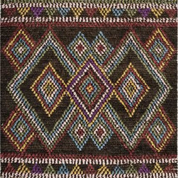 Safavieh - Safavieh Kenya KNY843A 6' x 9' Multi Rug - Inspired by afghan throws crocheted by hand in Kenya of indigenous un-dyed wool, Safavieh's Kenya rug collection is textural and beautifully detailed. Hand-tufted in India of pure, naturally colored wool, they add a well-traveled look to any room.