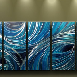 Matthew's Art Gallery - Metal Wall Art Modern Contemporary Home Decor Blue Holes - Name: Blue Holes