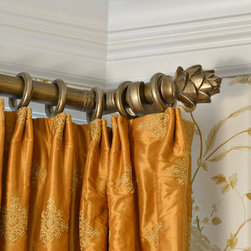 Silk Panels with Brushed Gold Rod and Rings - © 2013 John M. Lewis Photography