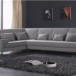 Mezzano Fabric Sectional YF12012 - This two pieced fabric sectional features the perfect combination of both style and comfort.