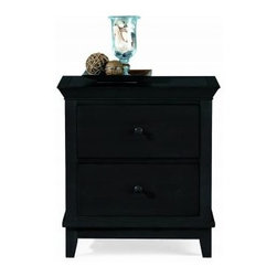 """American Drew 181-420B Drawer Night Stand - Black Sterling Pointe - Drawer Night Stand - Black - American Drew Sterling Pointe Collection 181-420BFeatures:2 DrawersThis Price Includes:Drawer Night Stand - BlackItem:Weight:Dimensions:Drawer Night Stand - Black66 lbs26"""" W X 17"""" D X 28"""" HManufacturer's Materials:Maple and Hardwood SolidsMaple & Poplar Veneers & Simulated Wood Components"""