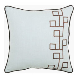 Rizzy Home - Spa and Brown Decorative Accent Pillows (Set of 2) - T03563 - Set of 2 Pillows.