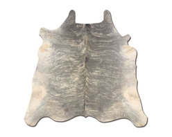 Linon - Cowhide Light Brindle & Light Brindle Full Sk - Hand-crafted. 100% Brazilian Cow Hide. Full skin size. Dimensions differ by hide. Weight: 16 lbs.Natural full skin cowhides are sold in categories of Light, Medium and Dark Brindles. Every hide will differ in color, color placement, brand marks, scrapes or other natural blemishes. This is normal and not detrimental for this product.