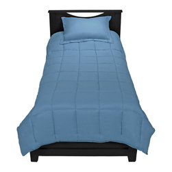 TwinXL - Coronet Blue Twin XL Comforter Set By Ivy Union - Enjoy a premium extra long comforter with this luxurious Twin XL Comforter set by Ivy Union. Soft brushed knit fabric shell with baffle box design helps control even temperature dispersion. All season weight comforter with durable double needle edging.