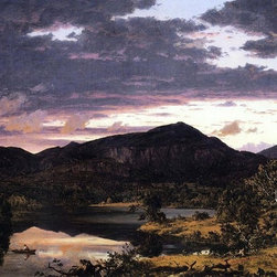 "Frederic Edwin Church Lake Scene in Mount Desert   Print - 16"" x 24"" Frederic Edwin Church Lake Scene in Mount Desert premium archival print reproduced to meet museum quality standards. Our museum quality archival prints are produced using high-precision print technology for a more accurate reproduction printed on high quality, heavyweight matte presentation paper with fade-resistant, archival inks. Our progressive business model allows us to offer works of art to you at the best wholesale pricing, significantly less than art gallery prices, affordable to all. This line of artwork is produced with extra white border space (if you choose to have it framed, for your framer to work with to frame properly or utilize a larger mat and/or frame).  We present a comprehensive collection of exceptional art reproductions byFrederic Edwin Church."