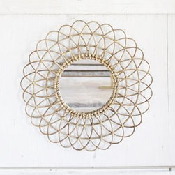 Swirling Ribbon Wall Mirror - Round and round it goes—and it all stops at your gorgeous face. With its swirling, eye-catching design, you are the center of it all. Beautifully crafted, this artistic mirror will add a great focal point above your bathroom sink, atop your bedroom dresser, or even in your entryway or dining room.