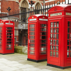 Murals Your Way - Row Of Phone Boxes Wall Art - Painted by David  Wall, the Row Of Phone Boxes wall mural from Murals Your Way will add a distinctive touch to any room