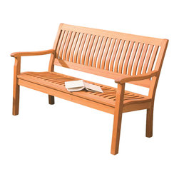 Phat Tommy - 4 Ft. Serenity Wooden Bench - Equally at home in a modern or traditional setting, you might find it difficult to get moving again.