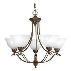 Progress Lighting - Progress Lighting P4068 Avalon Five Light Single-Tier Up Lighting Chandeliers - Features: