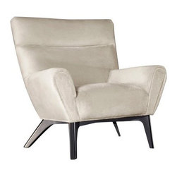 Armen Living Laguna Fabric Club Chair - Light Cream - The plush Armen Living Laguna Fabric Club Chair – Light Cream is great for reading a good book or taking a long nap. The silky smooth fabric and curved back and arm rests make it easy to sink in and drift away to leave all your troubles behind. Made from short shag fabric and supported by a kiln-dried hardwood frame in a dark wood finish, this luxurious and contemporary piece is built to last. Measures: 34W x 36D x 38H inches and comes with a standard 1-year limited warranty.About Armen LivingImagine furniture without limits - youthful, robust, refined, exuding self-expression at every angle. These are the tenets Armen Living's designers abide by when creating their modern furniture collections. Building on more than 30 years of industry experience, Armen Living combines functional versatility and expert craftsmanship into their dramatic furniture styles, all offered at price points fit for discriminating budgets. Product categories include bar stools, club chairs, dining tables, ottomans, sofas, and more. Armen Living is based in Sun Valley, Calif.
